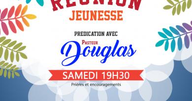 Réunion de jeunesse avec Pasteur Douglas