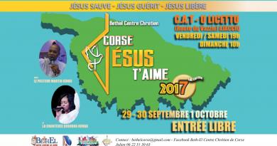 Corse, Jésus T'Aime 2017