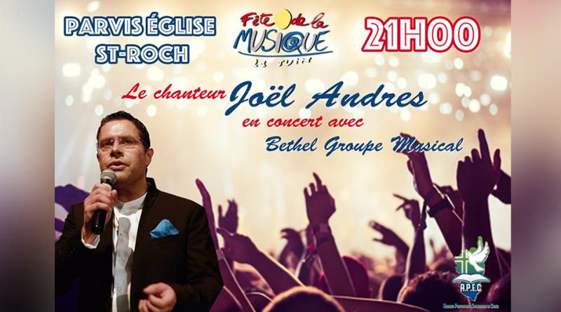Fête de la musique : Joël Andres avec Bethel Groupe Musical