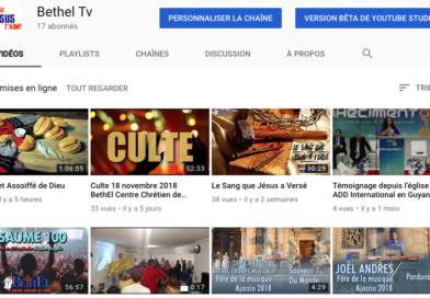 Bethel Tv sur Youtube