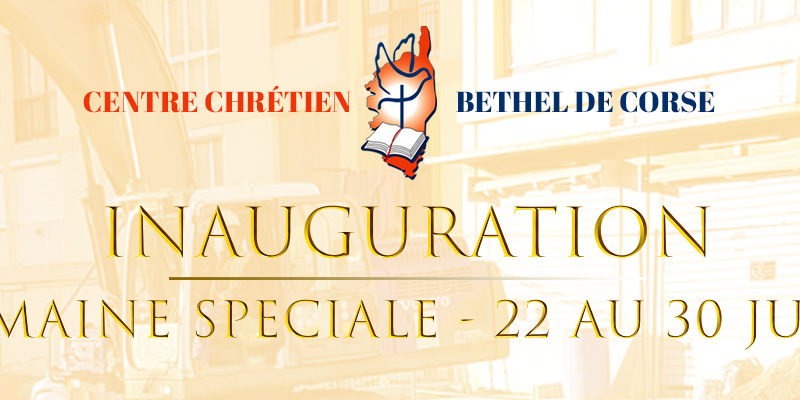 SEMAINE SPECIALE D'INAUGURATION