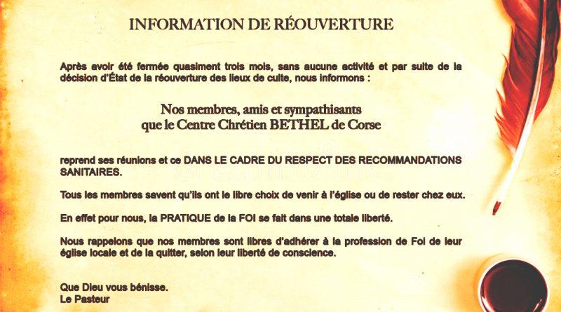 Information Importante